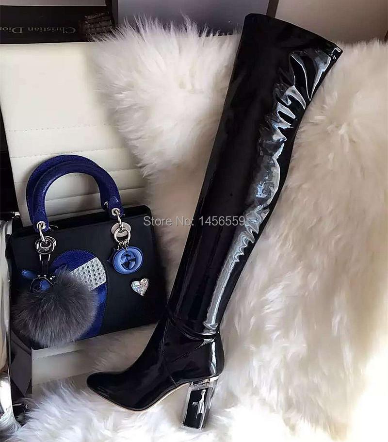 Popular Women Thigh High Leather Boots-Buy Cheap Women Thigh High ...