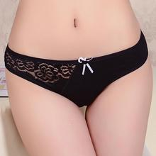 2016 Sale Solid Gas Women Underwear Thongs Ladies Briefs Factory Direct Wholesale Sexy Lace Cotton Women's Panties(China (Mainland))