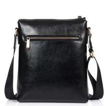 DANJUE Genuine Leather Shoulder Cross Body Bags Natural Cowhide Men Anti Theft Lock Buckle Messenger Bags
