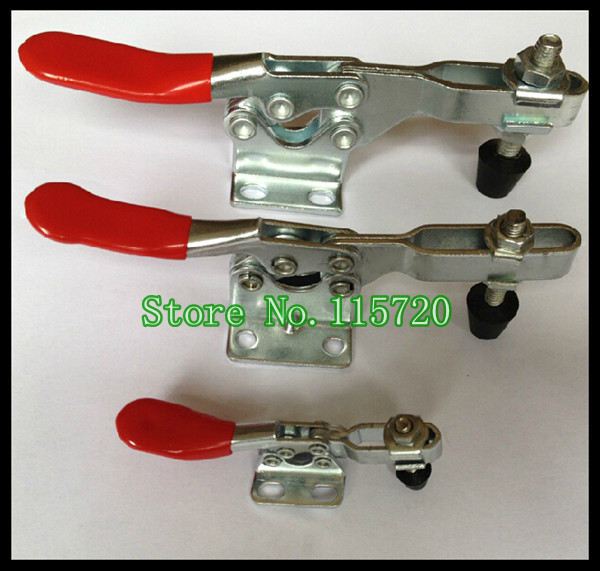 Free shipping 27KG 60LBS U Shaped Bar Flanged Base Horizontal Toggle Clamp 201(China (Mainland))