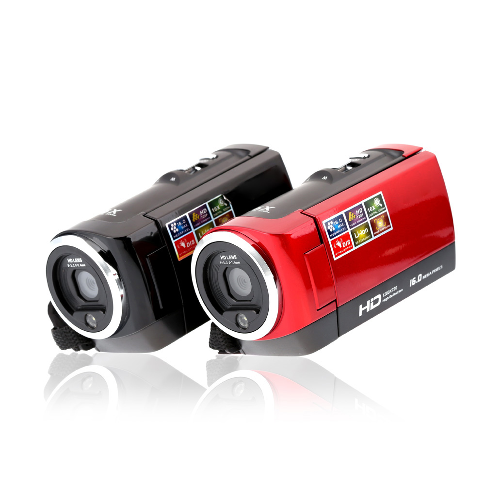 Digital Full HD Camera 720P 12MP pixels Video Camera 2.7'' TFT LCD 16X Zoom Camera Camcorders DVR Recorder Anti-Shake DVR38