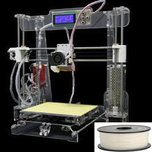 2016 3d printer DIY Kit Reprap Prusa i3 3d printer LCD Menu Support Multi-Language with 0.5kg Filament 8G Card Free Shipping