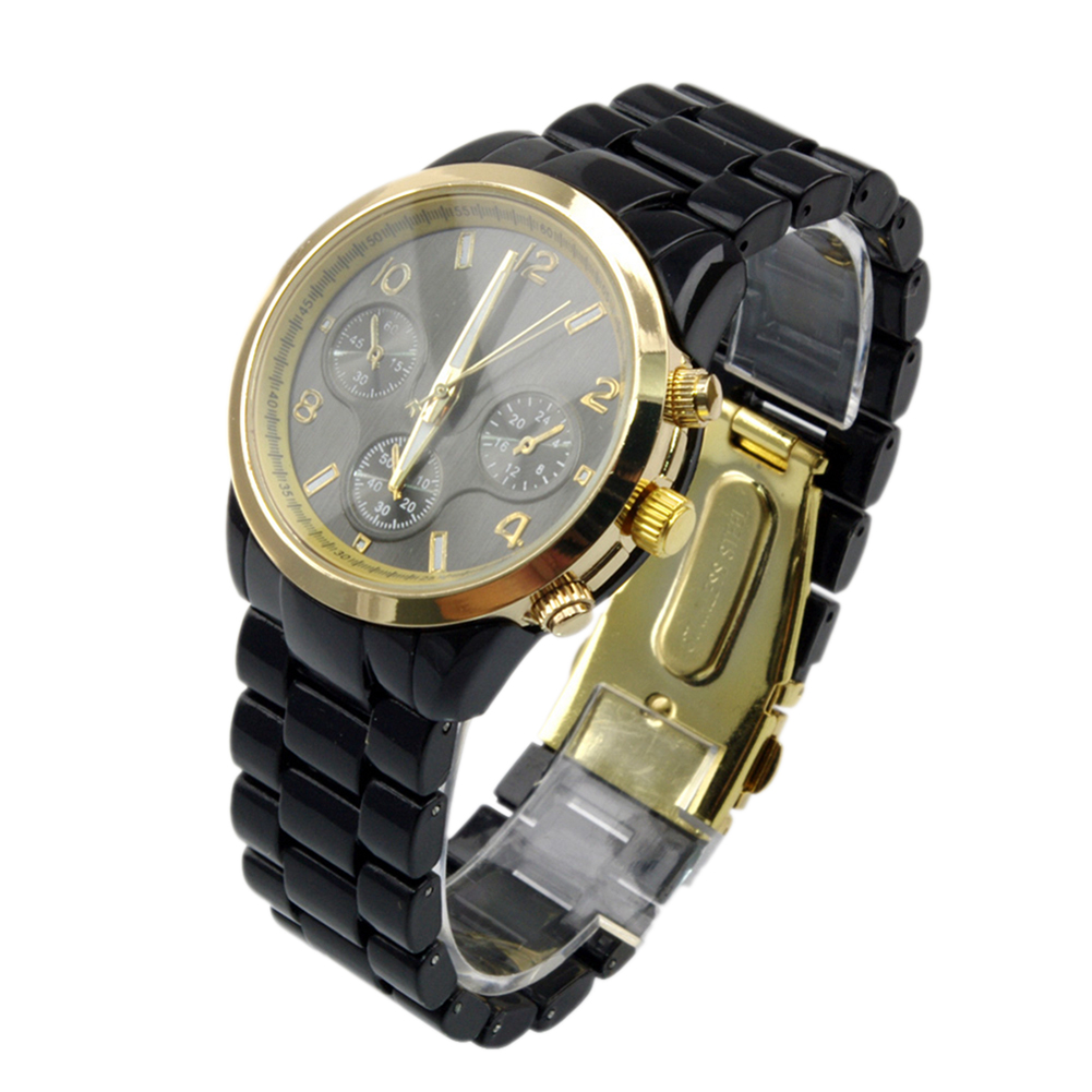 Fashion wristwatches Simplicity Black Bracelet men Multifunction Quartz Analog men Watch
