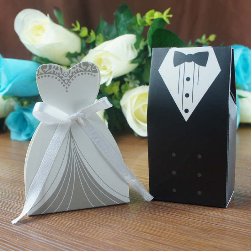 And Groom Wedding Candy Box Paper Wedding Gifts For Guests Wedding ...
