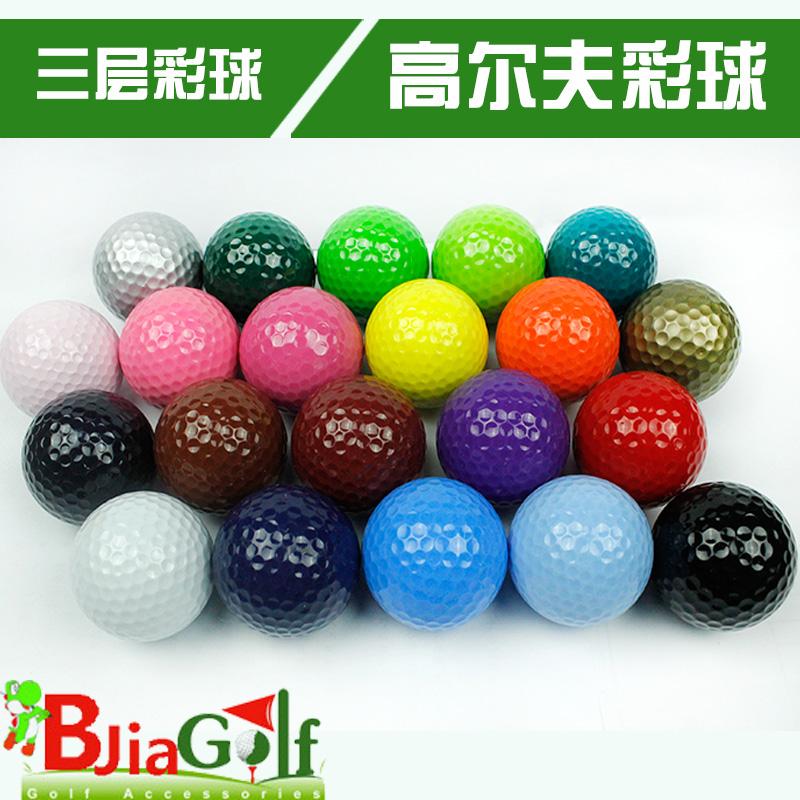 Free shipping 5pcs new brand 3 layer golf color ball,Three layer ball golf ball multicolour ball,5pcs/lot(China (Mainland))