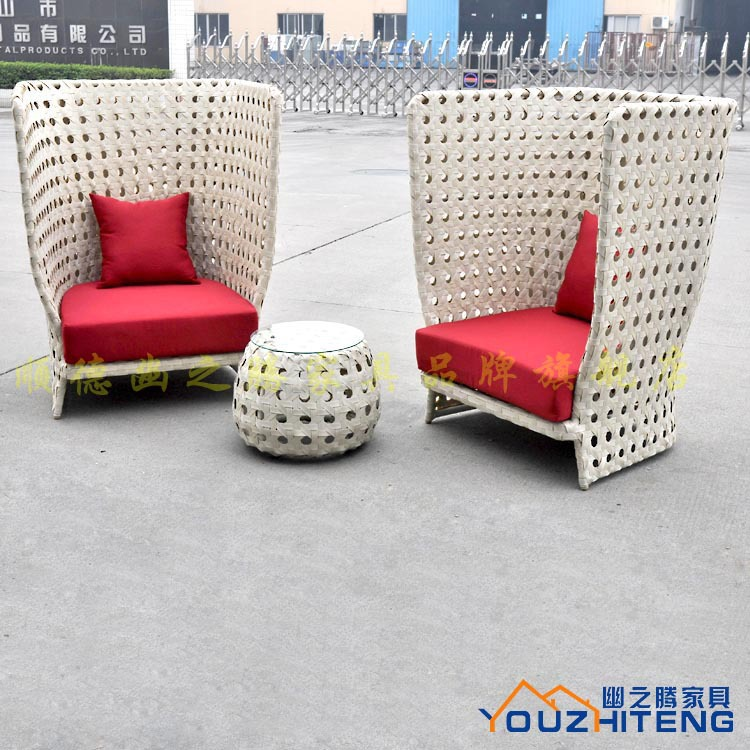 Teng secluded outdoor rattan furniture PE rattan furniture outdoor patio balcony casual combination coffee table and chairs YZT(China (Mainland))