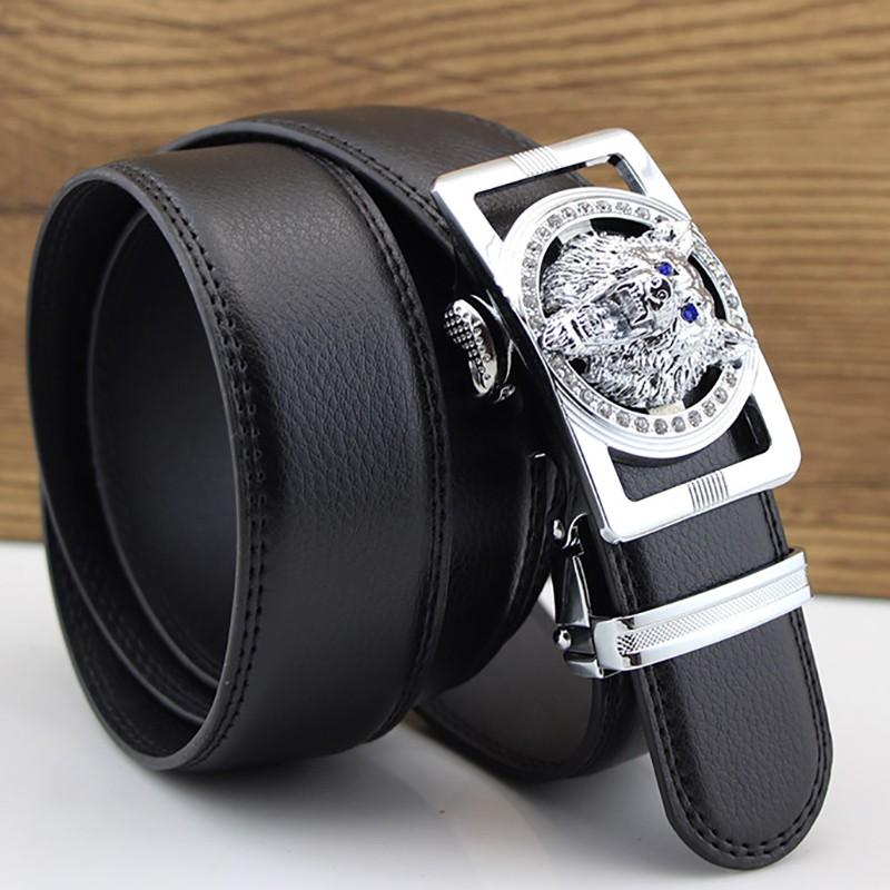 HTB1 QyBKXXXXXbQXFXXq6xXFXXXF - Wolf Designers Luxury Cowhide Brand Genuine Leather Automatic Buckle Belts for Mens High Quality Male Cowskin Ceinture Homme