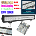 336W 23 Inch 5D Cree Chips Straight Work Lights Combo High Quality LED Light Bar Off