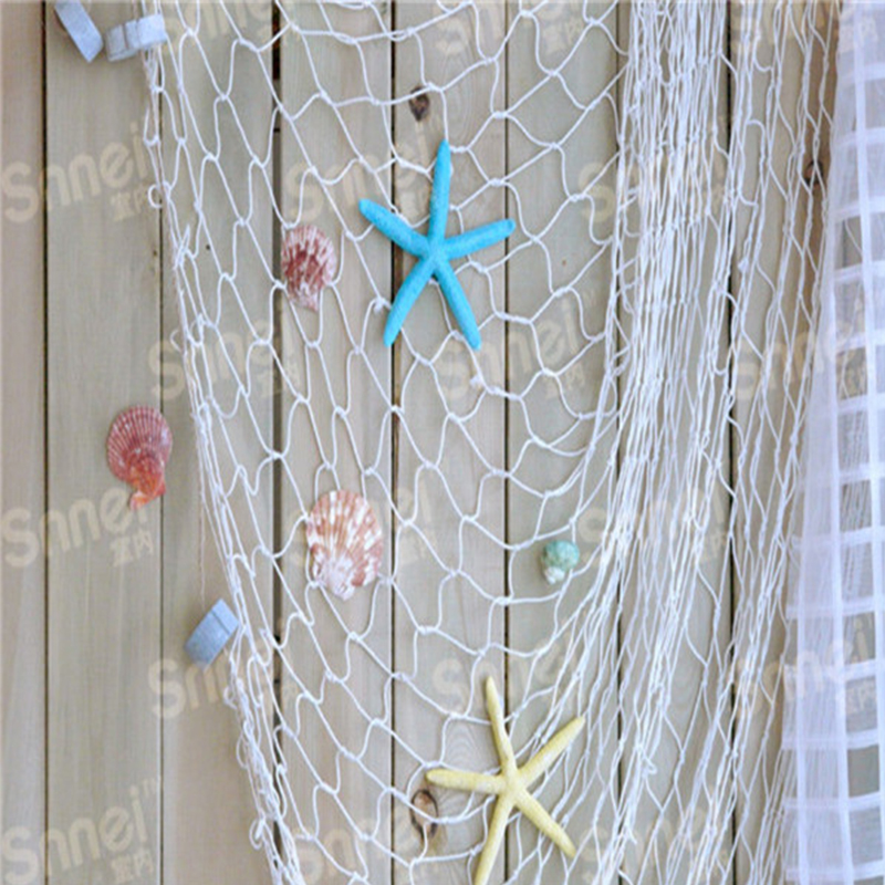 Hot home the mediterranean sea style wall stickers for Big fishing net