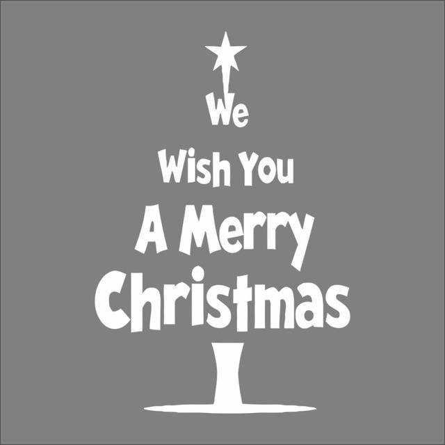 Рождественская елка желаем вам рождеством стены swindow стикер xmas58 новогоднее украшение гостиная отличительные знаки