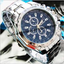 50pcs/lot,fashion stainless steel man sport watches Round Dial Brand Analog Quartz Dress Men wristWatch factory price(China (Mainland))