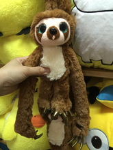 Cute soft plush Belt the sloth brown Croods long arms Monkey toy doll, creative graduation & birthday gift for children, 1 pc(China (Mainland))