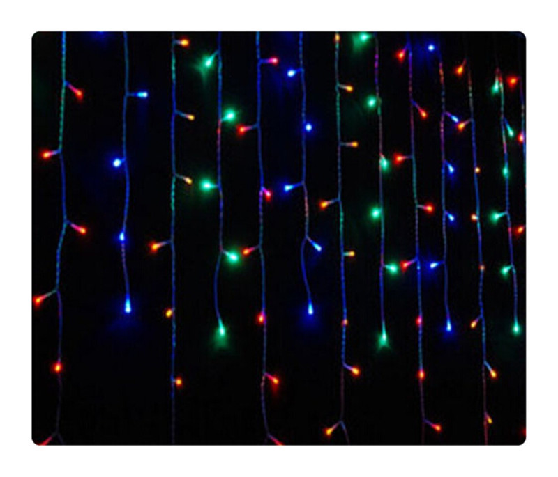 free shipping 6*3m 600 bulbs led curtain lights string/ led lamp /  multi color<br><br>Aliexpress