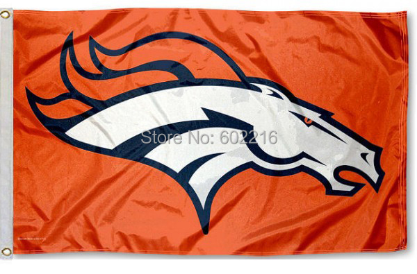 Denver Broncos Team Orange Flag Football Flag 3ft x 5ft Polyester Banner Flying Flag(China (Mainland))