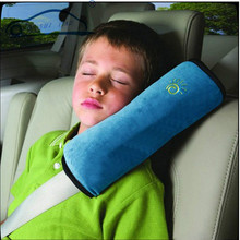 1pcs Car Safety Seat Belt Harness Shoulder Pad Cover/ Children Soft Shoulder Protection Covers Cushion Support Pillow 3 colors(China (Mainland))