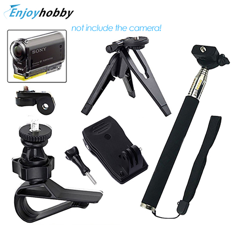 OliYin Sports Gopro Accessories Handheld Monopod Rotating Clip Mount Bundle For Sony Action Cam HDR AS20 AS15 AS100V AS30V AZ1(China (Mainland))