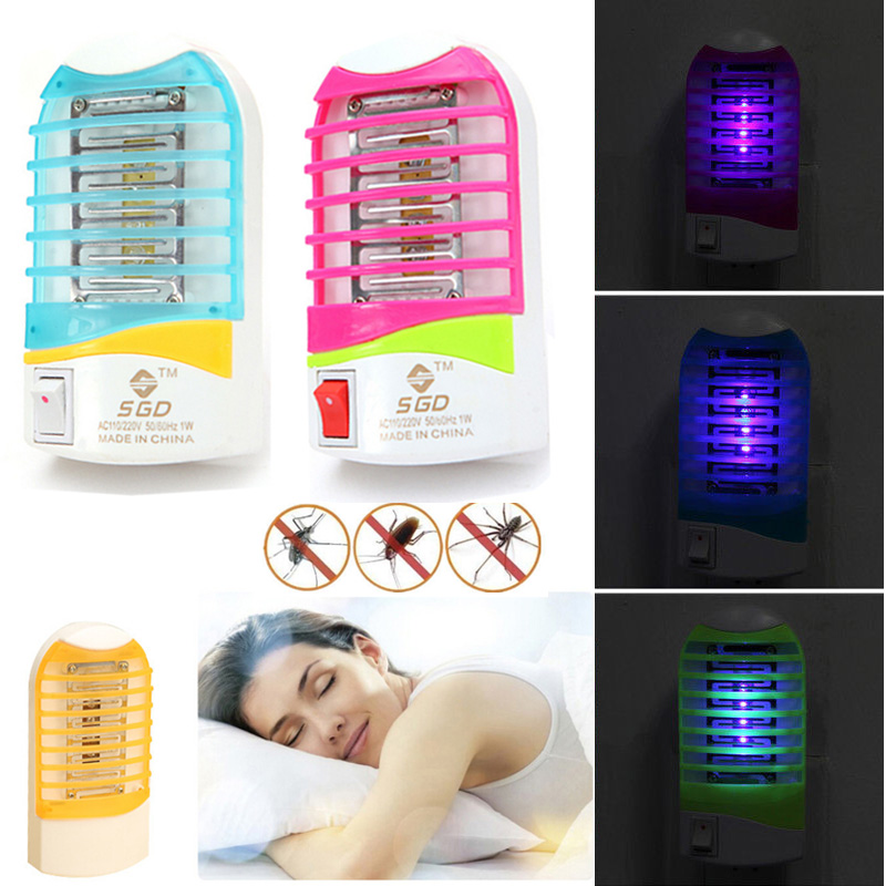 Electronic Mosquito Killer 4 colors Moth Home Stinger Zapper Mini New Hot Fly Lamp Light Pest Insect(China (Mainland))