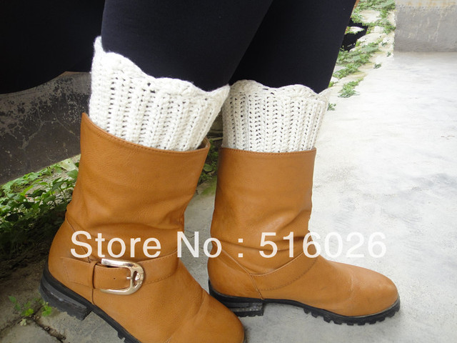 Knitted Boot Socks, Plus Size Leg Warmer Boot Topper Ankle Warmer,Textured and Stretchy Wholesale 3pair/lot