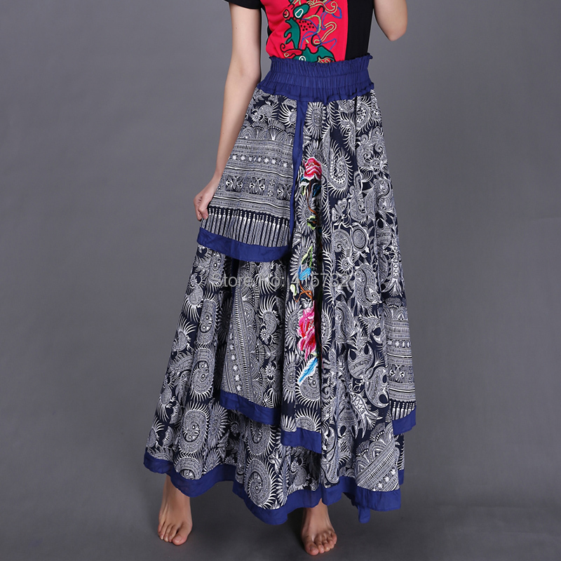 2014 autumn and winter women national trend big skirt embroidery flower a-line skirt Одежда и ак�е��уары<br><br><br>Aliexpress