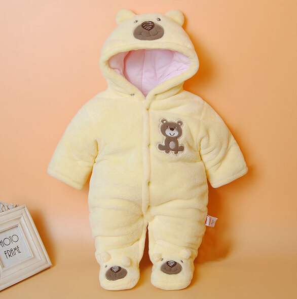 2016 Baby Winter Romper cotton-padded One Piece Newborn baby girl Warm jumpsuit Autumn Fashion baby's wear Kid Climb Clothes(China (Mainland))