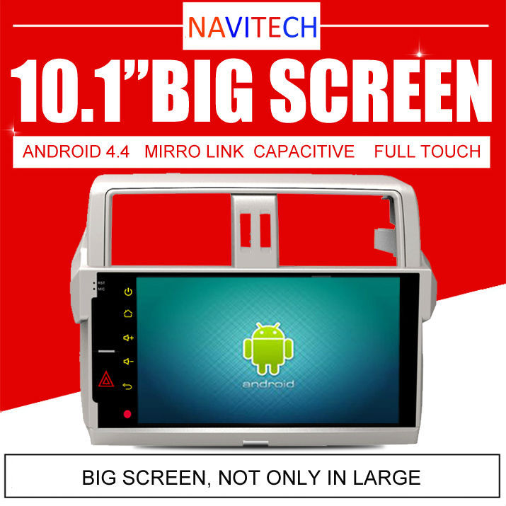 "10.1"" Android 4.4.4 Car PC For Toyota Land Cruiser Prado 2014 2015 Auto Radio GPS Navi Audio Video Player Capacitive Screen(China (Mainland))"