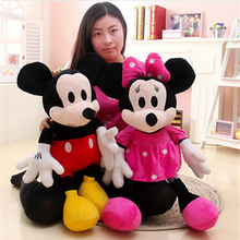 2pcs/lot 28cm Mickey Mouse And Minnie Mouse Stuffed Animals Dolls Plush Toys For Children's Gift Free Shipping(China (Mainland))