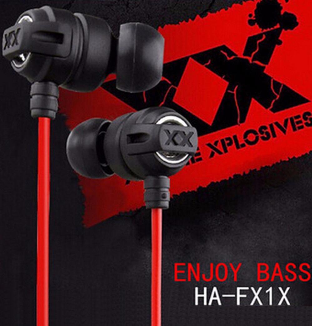 Hot Sale HA-FX1X 3.5mm Stereo Bass earphone Headphone Headset for mobile Phone iphone Desktop Laptop MP3 MP4 iPod(China (Mainland))