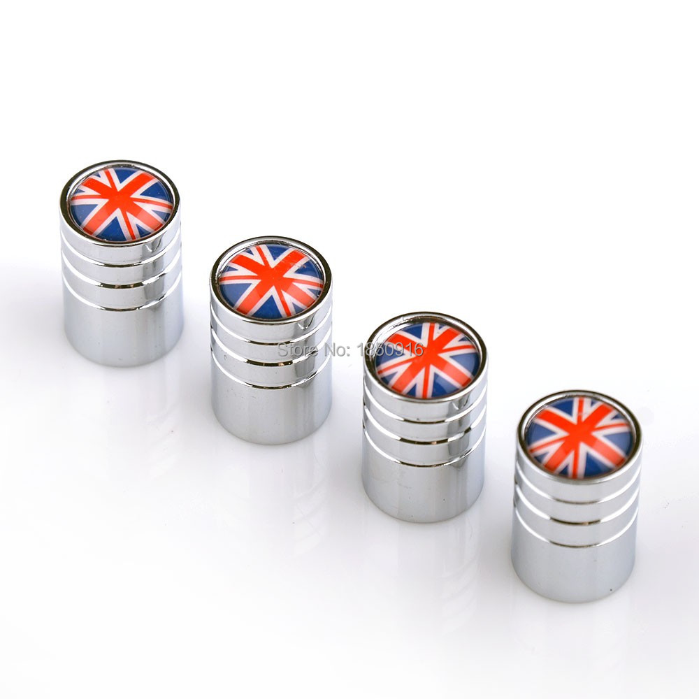4X Top Quality UK British Flag Car Tire Valve Caps Wheel Tyre Stem Air Caps Airtight Cover Car Styling Accessories Free Shipping(China (Mainland))