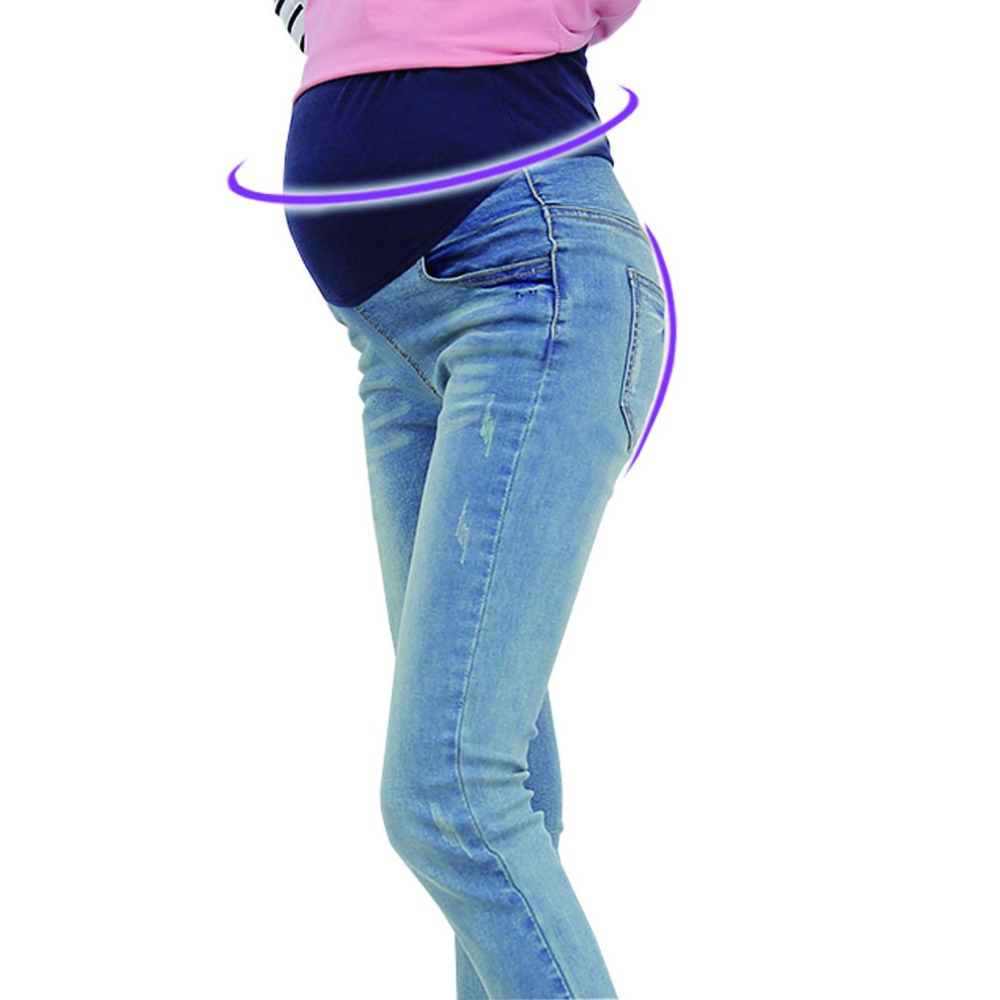Fashion Maternity Jeans Casual Pregnancy Pants Pregnant Trousers Maternity Clothes Clothing Denim Jeans for Pregnant Women