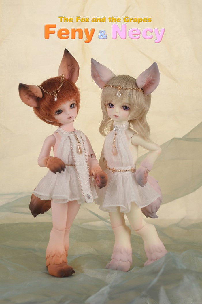 1/6  BJD doll nude Feny&amp;Necy,BJD/SD fox include face up..not include Clothes; wig;shoes and access&amp;ies<br><br>Aliexpress