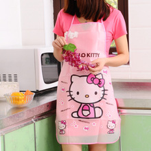 Cartoon Apron Kit Bib Apron Cartoon Long Sleeveless  Waterproof Kitchen Aprons For Men And Women(China (Mainland))