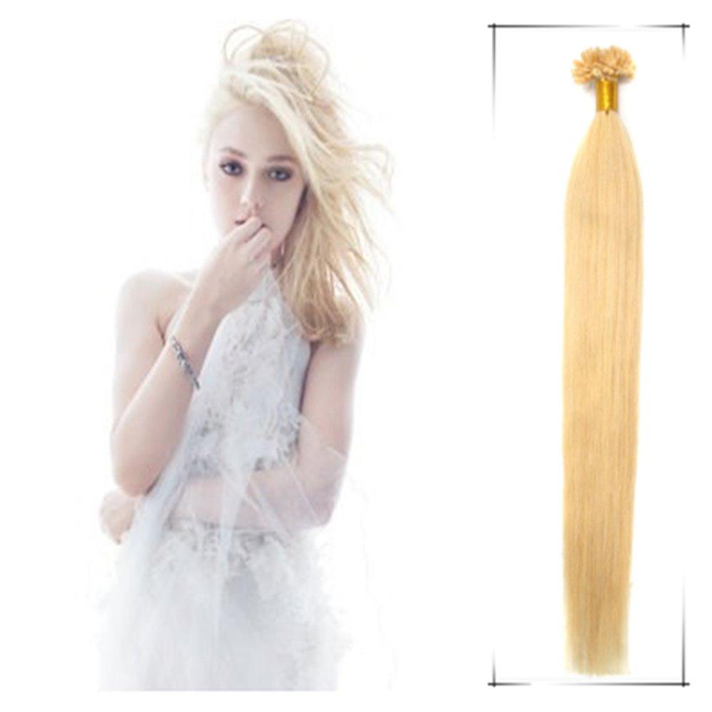 """16""""-24"""" Nail Tip U Tip Nail Hair Extension Straight 100% Remy Brazilian Human Apply Hair Cabelo Humano Pre Bonded Hair(China (Mainland))"""