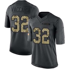 Men's #32 Kenny Vaccaro Limited Black 2016 Salute to Service Football Jersey 100% Stitched(China (Mainland))