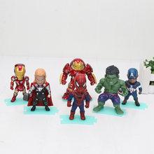 Infinito Guerra de super-heróis Os Vingadores Capitão América homem de ferro Hulk Spiderman Thanos panther PVC Action Figure Toy frete grátis(China)