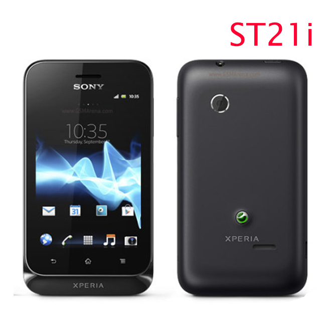 ST21 Original Unlocked Sony Ericsson Xperia tipo ST21i cell phone WiFi Android GPS one year warranty free shipping(China (Mainland))