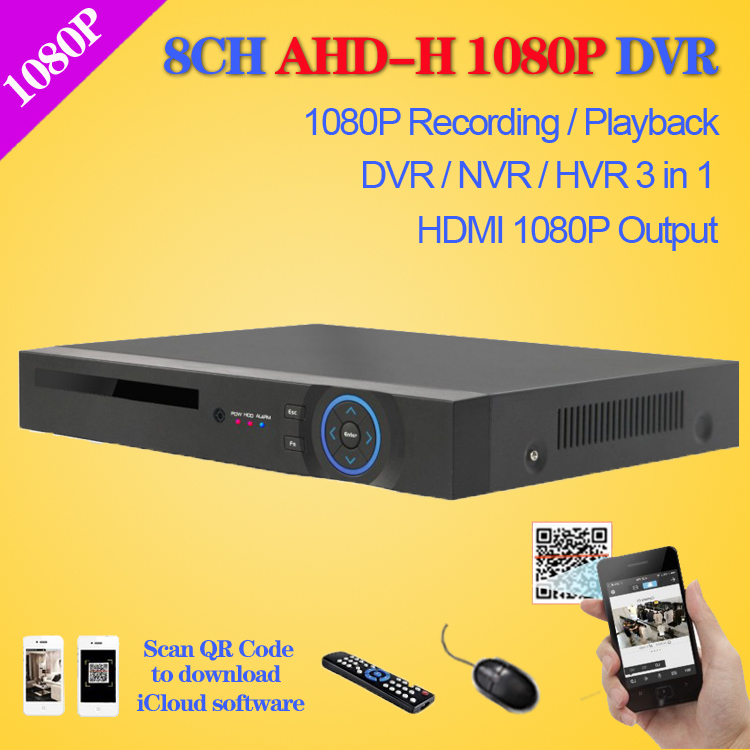 SecuVision HD CCTV 8ch AHD 1080P surveillance DVR NVR 8 channel AHD-H 1080P HDMI Standalone security 3G WIFI DVR video recorder(China (Mainland))