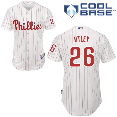 2016 Philadelphia Phillies #26 Chase Utley White Cool Base Baseball Jerseys,Wholesale Personalized/Customized Jerseys,Wholesale(China (Mainland))