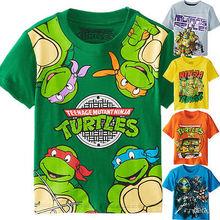 TMNT Teenage Mutant Ninja Turtles Baby Малыш Мальчик Девушки Топы Футболки Одежда(China (Mainland))