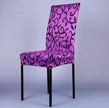 1 Piece Sure Fit Soft Stretch Spandex Pattern Chair Covers For Kitchen Chair Short Dining Chair Cover Purple Grey Champagne V30(China (Mainland))