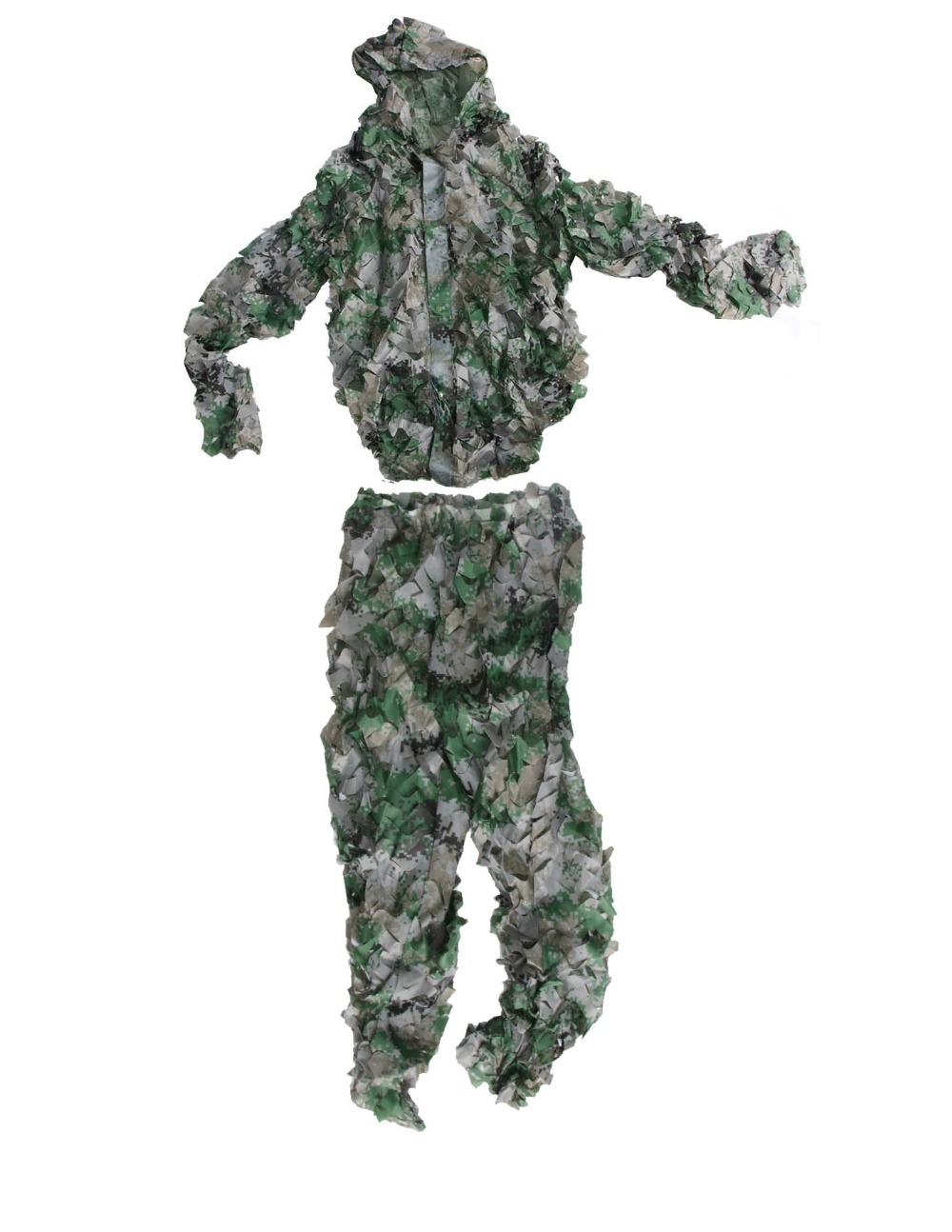 3D camping hunting digital camo ghillie suit archery sniper bionic camouflage uniform free shiping