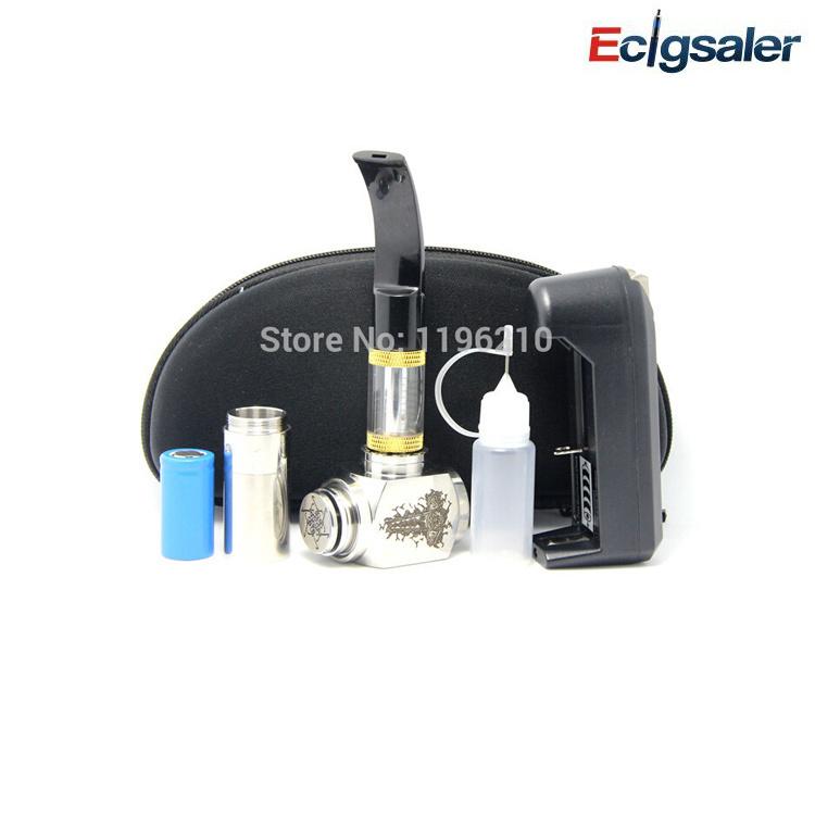 1pcs/lot 2017 new 2.5ml 618 PIPE Atomizer with hammer mechanical mod clone ecig hammer mod vapor cigarette Zipper case kit(China (Mainland))
