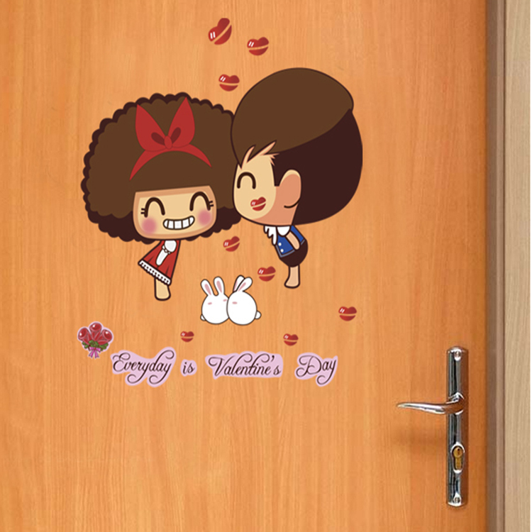Removable pvc vinyl decoration wedding room stickers wall for Wedding day room decoration