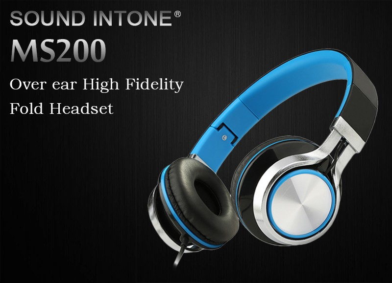 Sound Intone Ms200 Headphones Headsets for Phone Computer PC Mp3 Bass Gaming Earphones and Headphone Foldable Brand Wired