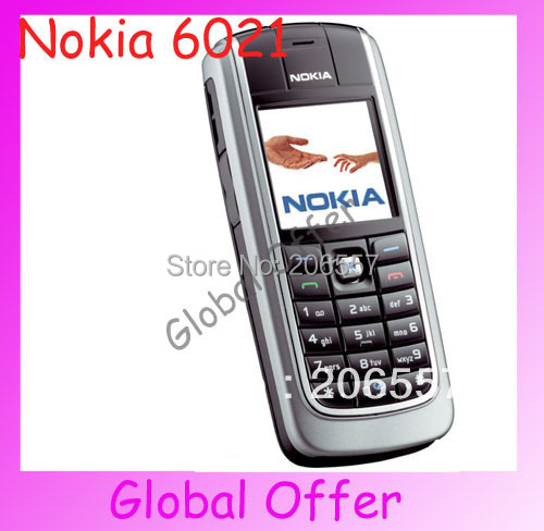10pcs/lot 6021 Original Unlocked Nokia 6021 mobile phone Triband Bluetooth JAVA Cheap Cell Phone refurbished 1 year warranty(China (Mainland))