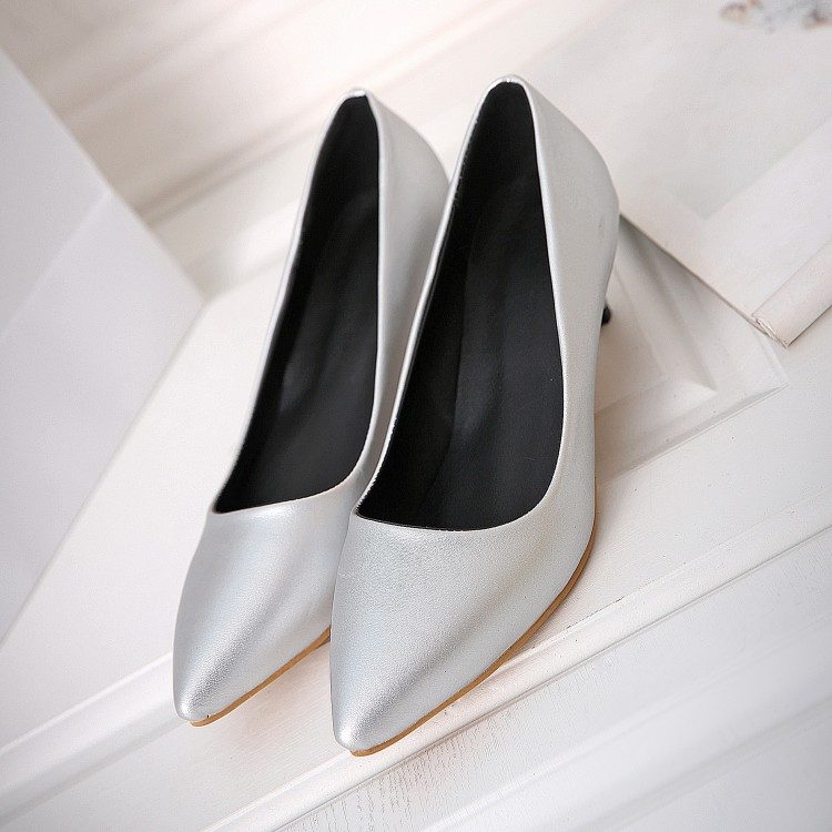 Big Size 34-45 Shoes Woman 2017 New Arrival Wedding Ladies Low Heel Shoes Fashion Sweet Dress Pointed Toe Women Pumps T330