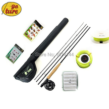 Goture 2015 7/8 Fly Fishing Rod Tackle Set 2.7M carbon fly fishing rod reel with line lure Files and line connector
