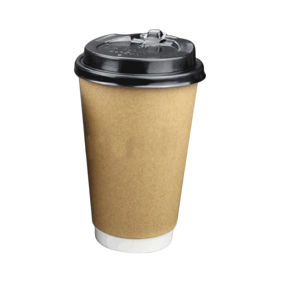 2018 wholesale disposable double layer kraft paper coffee cups