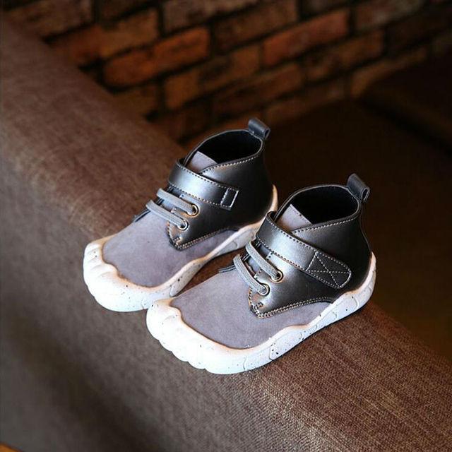 Детская Обувь Мальчиков И Девочек Рекреационных Обуви Британский Ветер Мартин Обувь Моды Личности Детская Обувь