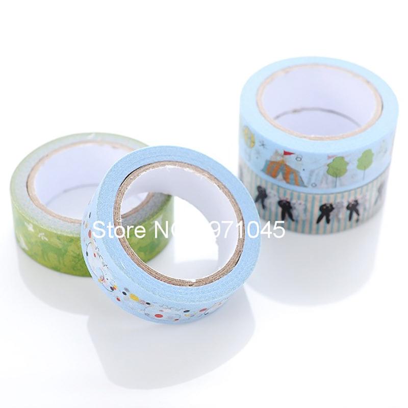 Wholesale 10pcs/Lot high quality lovely DIY handmake washy paper tape for home decoration<br><br>Aliexpress