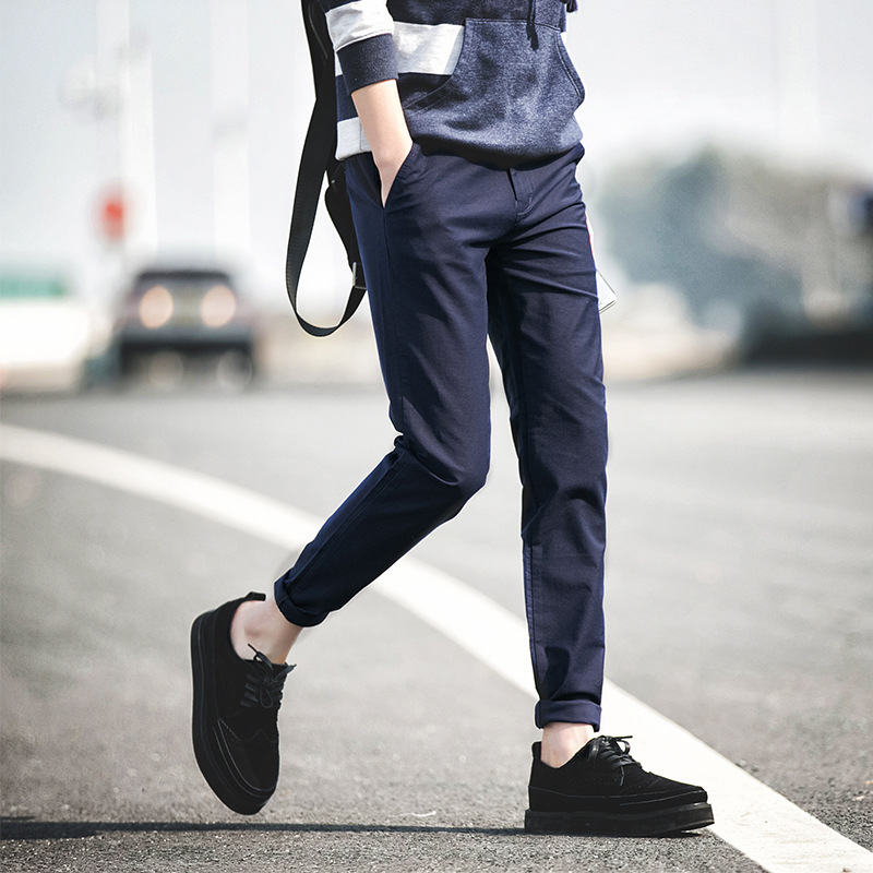 2016 Male casual Cotton pants male Blue Red men's clothing ...